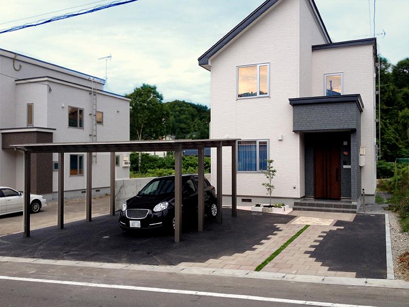 小樽市I様邸-外構・エクステリア工事