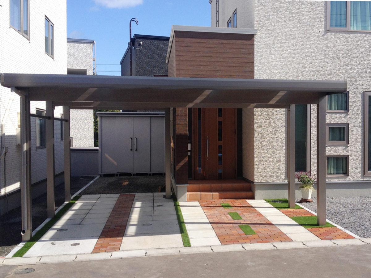 小樽市A様邸-外構・エクステリア工事