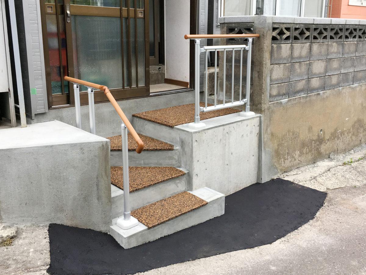 小樽市S様邸-外階段リフォーム