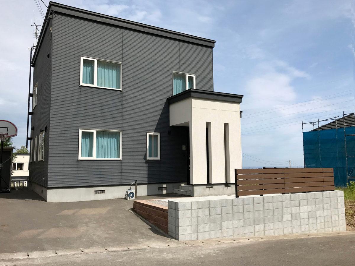 小樽市U様邸-土留め型枠ブロック
