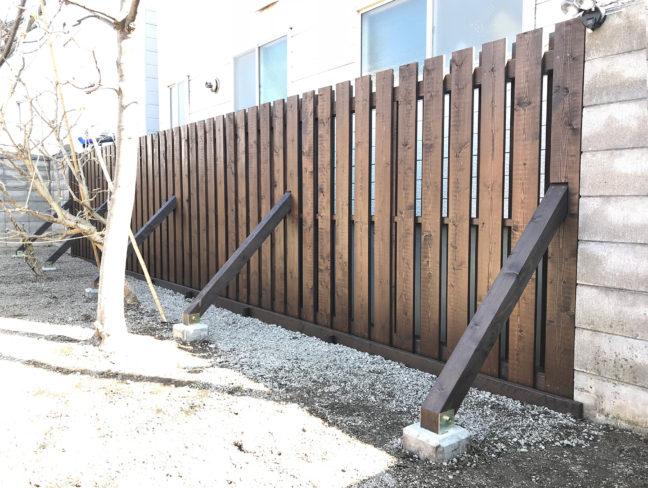 小樽市T様邸-目隠しウッドフェンス