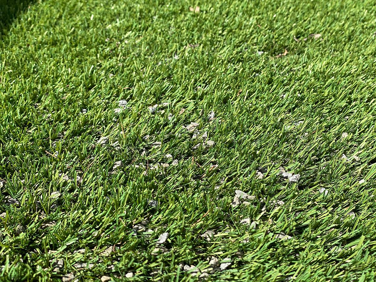 人工芝のお手入れ02